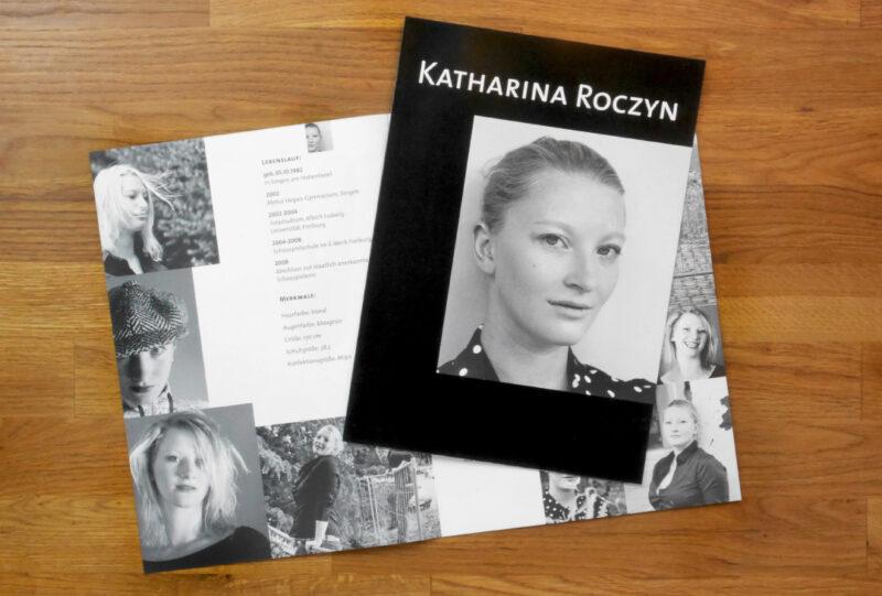 Michael Bertleff Setcard Schauspielerin Katharina Roczyn